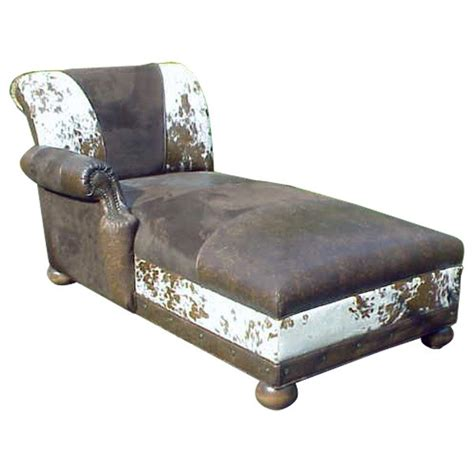 Cowhide Chaise by Cowhide Patterned Chaise Lounge Jairo From Our Handcrafted