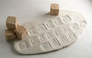 clay stamp alphabet dice six sided cube stamp set of five With letter stamps for clay