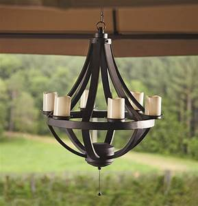 Solar Gazebo Lights Grand Resort Domed Chandelier Black Limited Availability