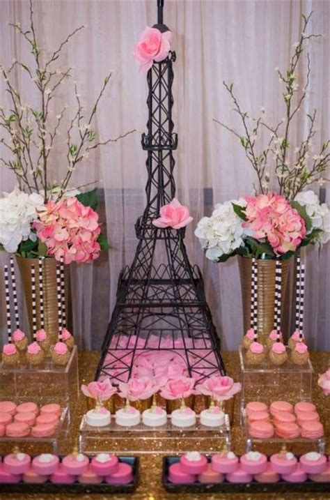 chic parisian themed bridal shower ideas crazyforus