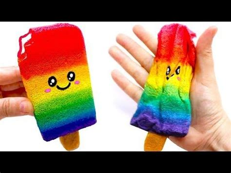 diy rainbow popsicle squishy easy diy toys  kids