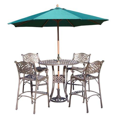 oakland living 7 cast aluminum patio bar