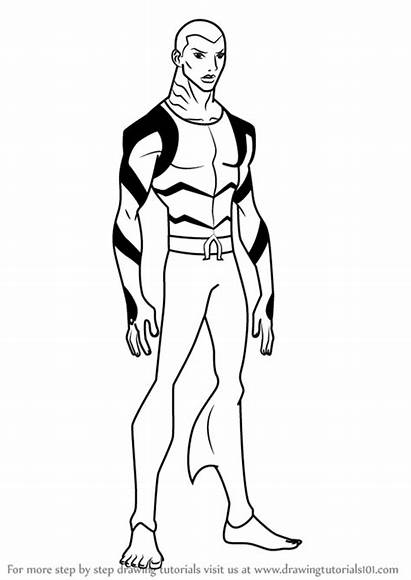 Justice Young Aqualad Draw Drawing Step Drawings