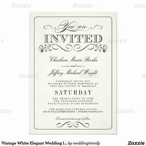 vintage white elegant wedding invitations elegant With fancy wedding invitations canada
