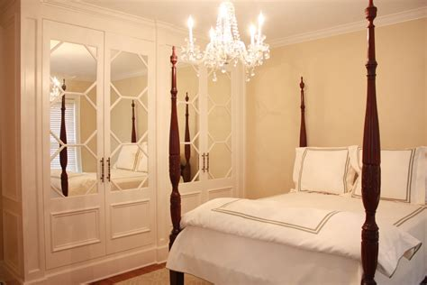 mirrored closet doors closet traditional with