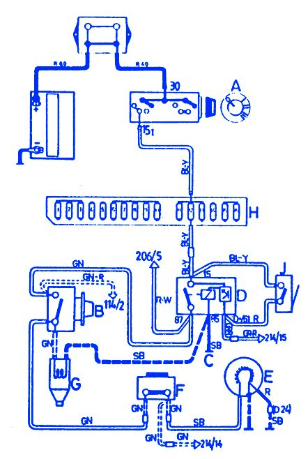1989 Volvo 240 Wiring Diagram by Volvo 240 1989 Front Electrical Circuit Wiring Diagram
