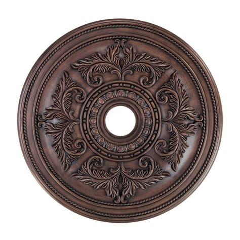 Lowes Canada Ceiling Medallion by Shop Livex Lighting Imperial Bronze Ceiling Medallion At