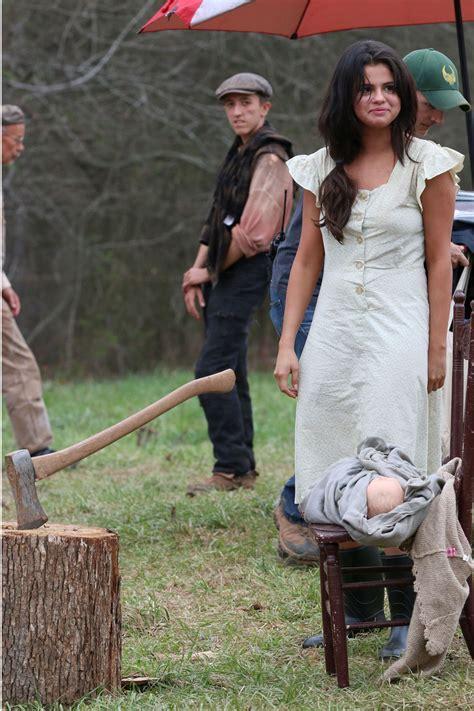 SELENA GOMEZ on the Set of Dubious Battle in Atlanta ...