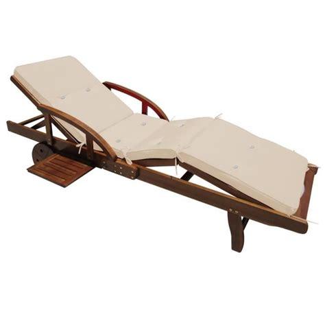 coussin de chaise longue coussin pour chaise longue crème 195 cm achat vente