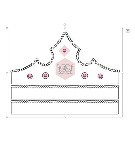 free printable tiara template 45 free paper crown templates template lab