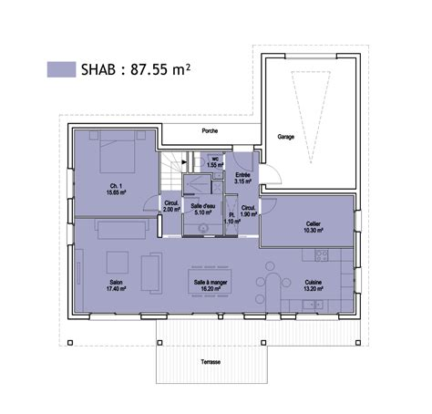 appartement deux chambres surfaces shob shon et habitable cas pratique en images