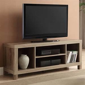 Table Tv Design : tv stand table for flat screen living room furniture with shelves wood weathered ebay ~ Teatrodelosmanantiales.com Idées de Décoration