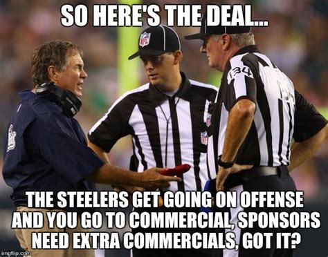 Nfl Ref Meme - bill tells the refs what to do imgflip