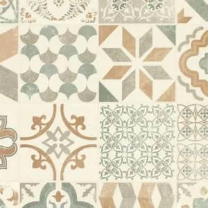 Carreaux De Ciment Pvc : sol pvc lino imitation carreaux de ciment naturel ~ Teatrodelosmanantiales.com Idées de Décoration