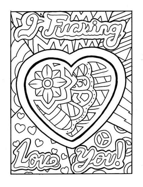 hearts pack coloring coloring pages printable adult