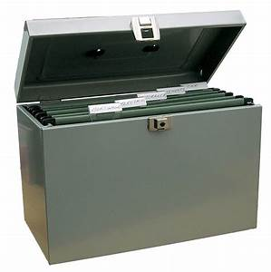 metal file storage box a4 lockable with suspension files With lockable document box