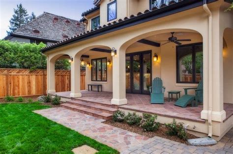 Backyard Porch Designs For Houses by Classic Mediterranean Veranda Backyard Design Ideas Home