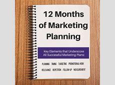 12 Month Marketing Plan Template & Calendar