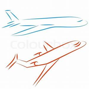Flying vector airplane, icon plane. Airliner, jet ...