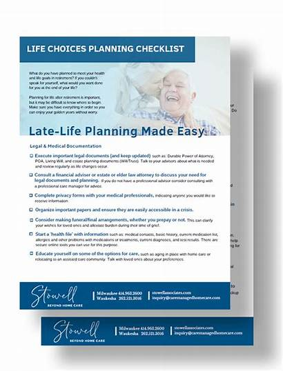 Choices Checklist Associates Stowell Shadow