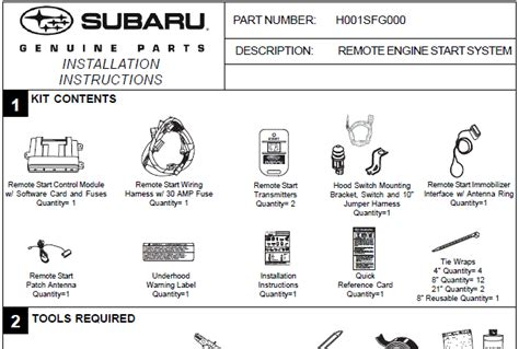 Subaru Remote Starter Installation Instructions