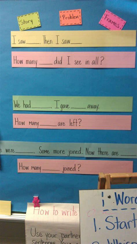 story problem sentence frames sentence frames