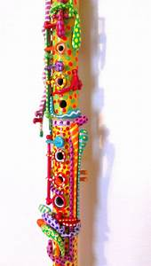 Bright Hand Painted Clarinet by Bee's Curiosity Shoppe ...