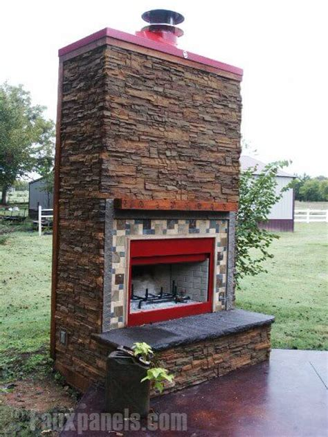 faux fireplace panels 30 faux brick and rock panel ideas pictures 7184