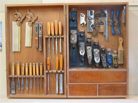 Tool Storage Cupboard by One Furniture Maker S Tool Cabinet Popular Woodworking
