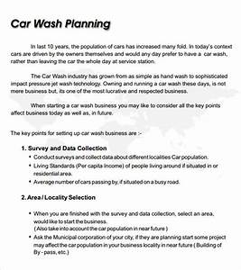 car wash business plan template 8 free documents in pdf With car wash business proposal letter