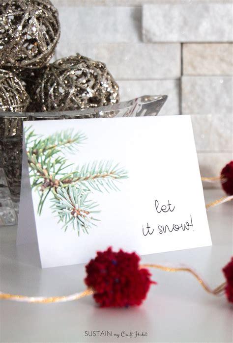 decembers  winter printable greeting card template