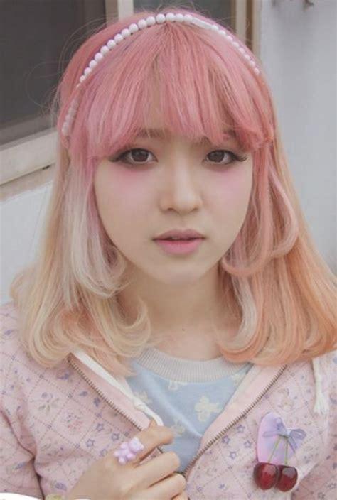 Kawaii Cute Dyed Hair Pink Blonde Japan Japanese Girl
