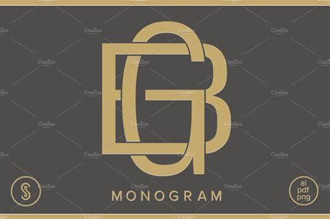 bg monogram gb monogram creative logo templates creative market