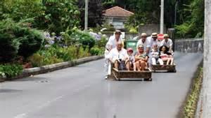 Wicker Sled Funchal Toboggan Ride In