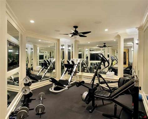 Home Gym Design Ideas  Sweat It Out In Your Own Home. Sunshine Landscaping. Modern L Shaped Desk. Fireplace Mantles. Blue Desk Chair. Bedroom Vanity Set. Finished Product. Grey Nailhead Sofa. Wood Carport