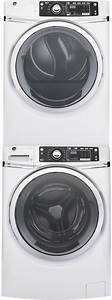 Ge Gewadrwg3 Stacked Washer  U0026 Dryer Set With Front Load