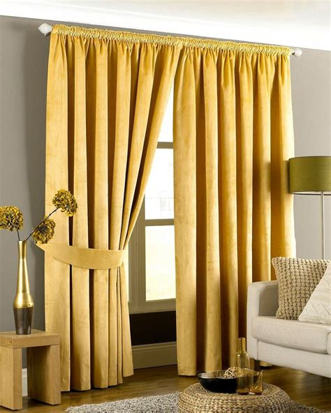 luxurious gold heavyweight velvet  lined pencil pleat