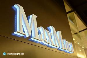 3d led backlit signs with painted stainless steel letter With backlit acrylic letters