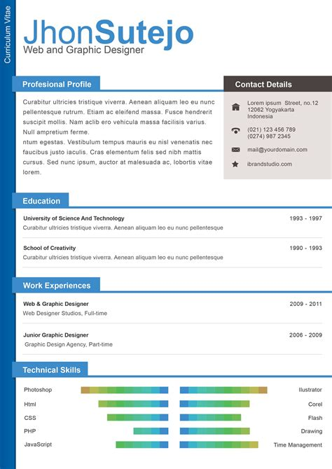 The Resume Template by 40 Resume Template Designs Freecreatives