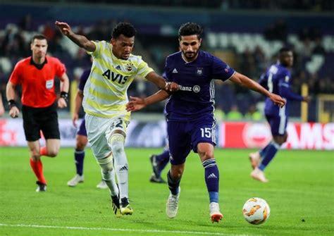 Anderlecht 2 2 Fenerbahçe  Kanarya'dan Müthiş Dönüş