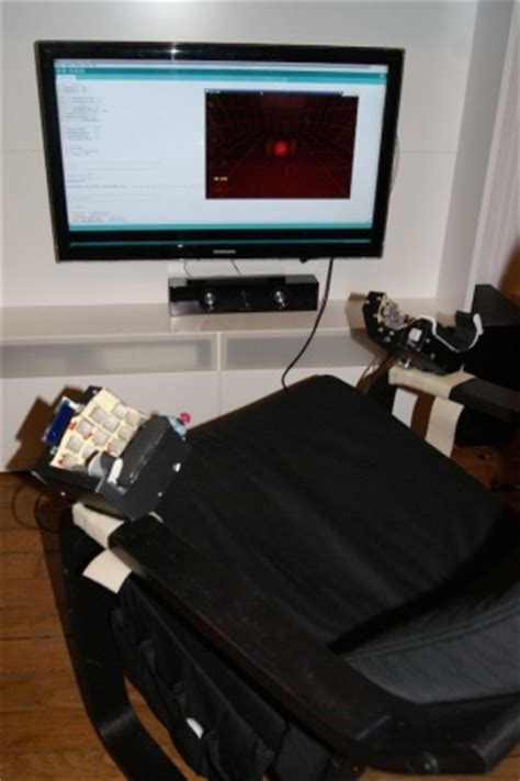 build  chair mounted split keyboard reclining
