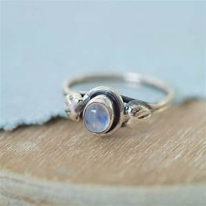 rainbow moonstone leaf ring by wanderlust jewellery ...