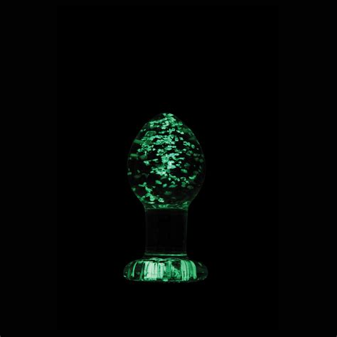 Ns Novelties Firefly Glass Medium Plug Glow In The Dark
