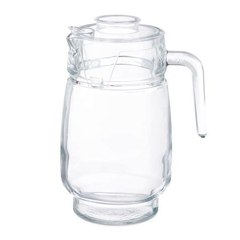 glaskaraffe 5 liter glaskrug mit deckel 1 5 liter karaffe glaskaraffe krug