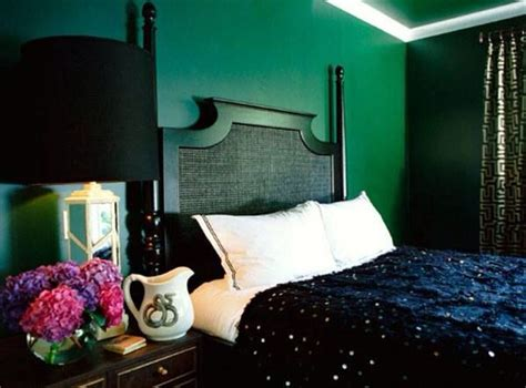Dark Green Bedroom  Bedroom Ideas  Pinterest Dark