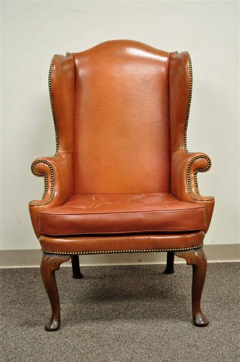 antique 19th century burnt orange distressed leather