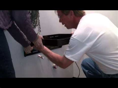 Installing Floating Vanity by How To Maidan Floating Vanity Bracket Installation