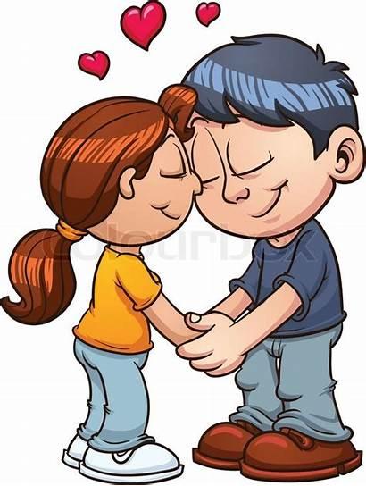 Couple Vector Clip Hugging Memo Angeles Hug