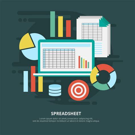 spreadsheet vector illustration   vectors