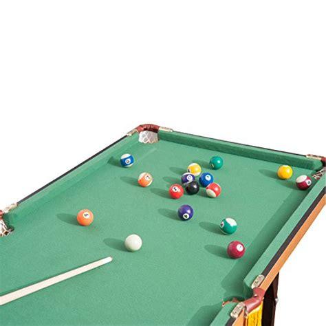 mini pool table amazon homcom folding miniature billiards pool table w cues and